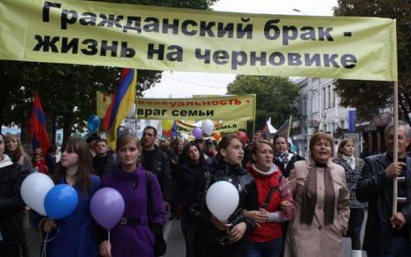 A March against homosexualism and prostitution