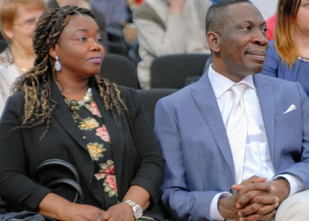 Pastor Tope Omotoye with wife