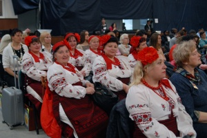 The Ukrainians. People in embroidered shirts